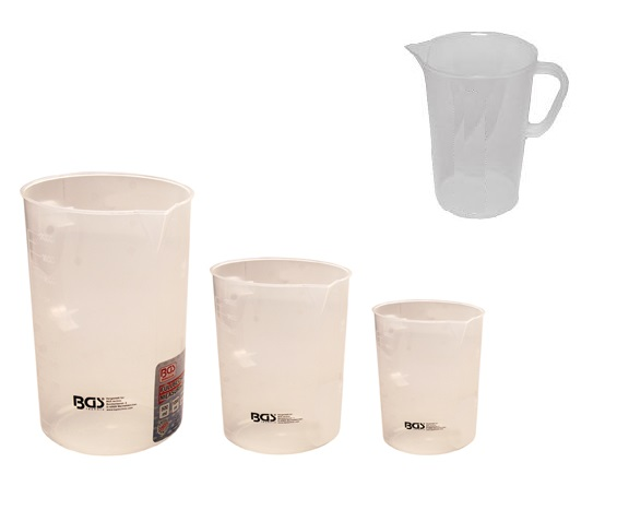 Messbecher - Set., 0.5L., 1L., 2L., 3-tlg. (Art. 9946)